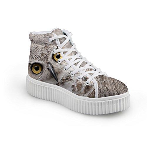 Knuffels Idee Schattige Dieren Afdrukken Platform Schoenen Mode Sneakers Uil