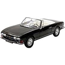 Norev 184784 1971 Peugeot 504 Cabriolet Black 1/18 Diecast Model Car