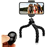 KobraTech Cell Phone Tripod Stand - Flexible Tripod for iPhone or Android with Remote- TriFlex Mini Tripod
