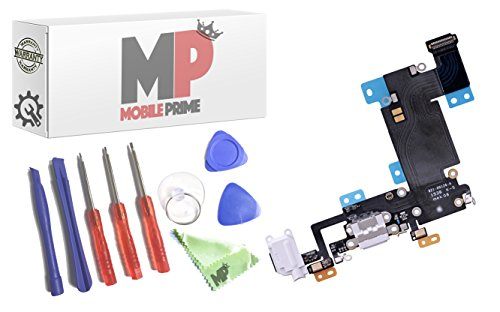 MOBILEPRIME Replacement Charging Charge Port Flex Cable with Certified Repair Tools for iPhone 6S Plus (Gray) - 821-00126-A