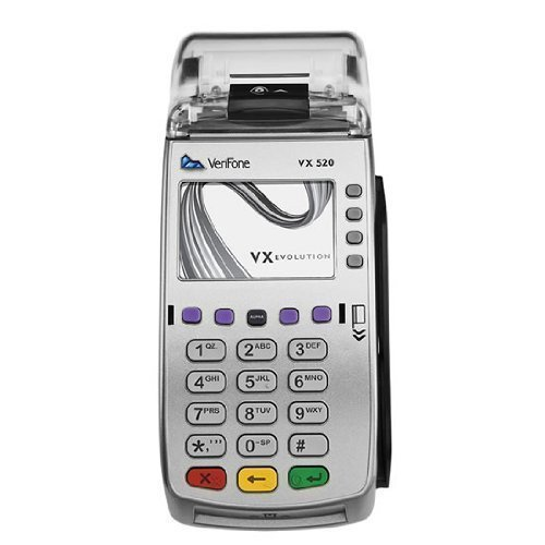 Verifone VX520 Dual Comm Credit Card Machine- with Smart Card Reader by VeriFone