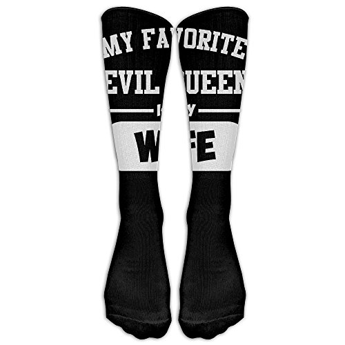 My Favorite Eveil Queen Is My Wife 1 Pair Over-The-Calf Socks Cosplay Socks Knee High Lightweight Ribbed Dress Stockings