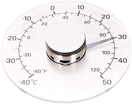 Houkiper Temperaturüberwachungs Messgerät, transparentes analoges Celsius Thermometer Fenster Pasten Thermometer im Freien