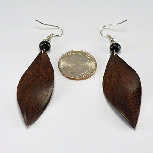 Feather Earrings – Hanger Earrings - Sono Wood