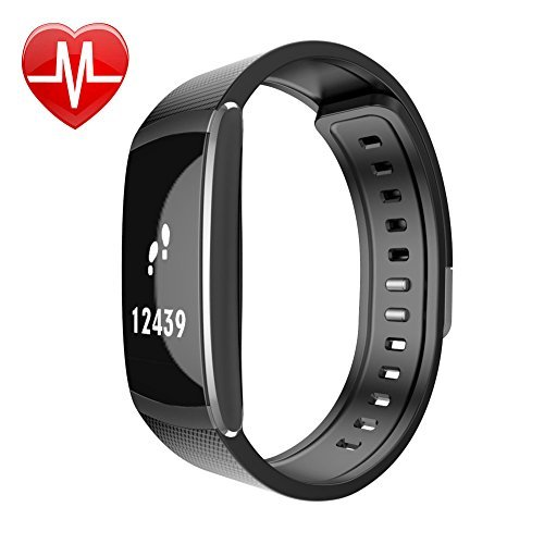 iWOWNfit Fitness Tracker Heart Rate Monitor, Bluetooth 4.0 IP67 Waterproof i6 pro Smart Watch Bracelet With Activity Tracker for iPhone Android Smartphone