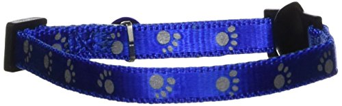 Aspen Pet Breakaway Reflective Paw Cat Collar, 3/8