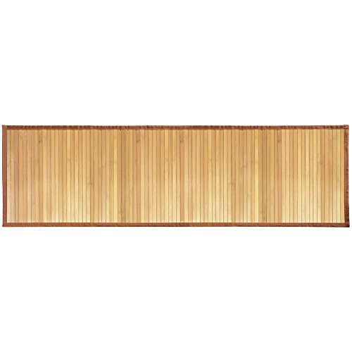 "InterDesign Bamboo Floor Mat – Ideal Mat for Kitchens, Bathrooms or Offices - 21"" x 60"", Natural"