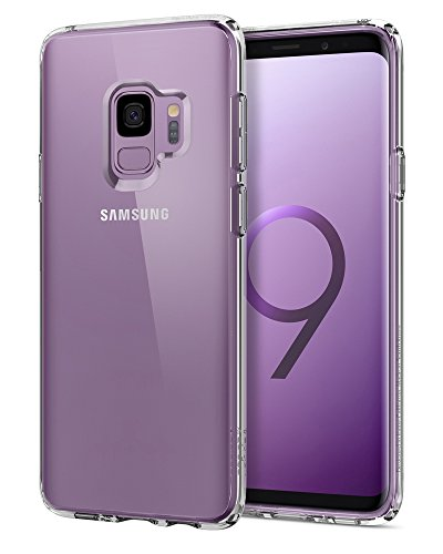 Spigen Ultra Hybrid Galaxy S9 Case with Air Cushion Technology and Clear Hybrid Drop Protection for Samsung Galaxy S9 (2018) - Crystal Clear