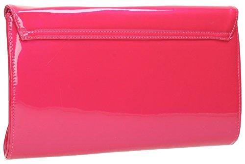 sac Juliette Rabat de de Brevet rose d'embrayage Femme Fête en Cuir Mariage Soirée Enveloppe pour qqOBgH