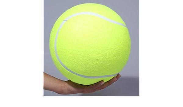 ADSIKOOJF 24cm Pelota de Tenis para Perros Pelota de Tenis Gigante ...