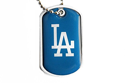Los Angeles Dodgers Dog Tag Domed Necklace Charm Chain Mlb