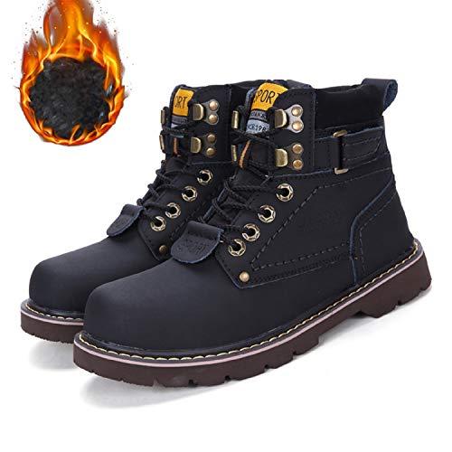 Impermable Femme B plus D'hiver Chaudement Sports Tqgold Chaussures Wool Baskets Homme Cuir Outdoor Bottes De Bottines Chaudes Fourrure noir Neige qp5Ya5w