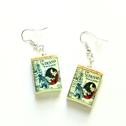 Csi Girl Costume (Sherlock Holmes THE VALLEY OF FEAR Polymer Clay Mini Book Earrings by Book Beads Choose Your Earring Hardware)