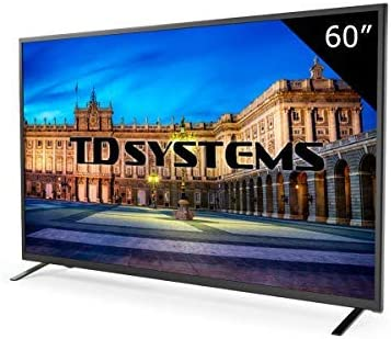 Televisor Led 60 Pulgadas Full HD TD Systems K60DLT7F. Resolución 1920 x 1080, 3X HDMI, VGA, 2X USB Reproductor y Grabador.: Amazon.es: Electrónica