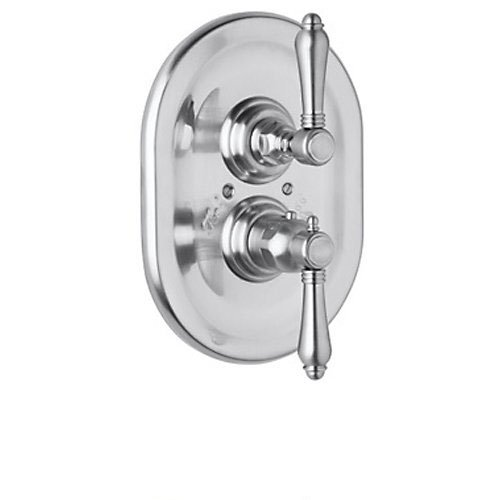 Rohl A4909LMAPC Country Bath Thermostatic Shower Valve Trim with Metal, Polished Chrome