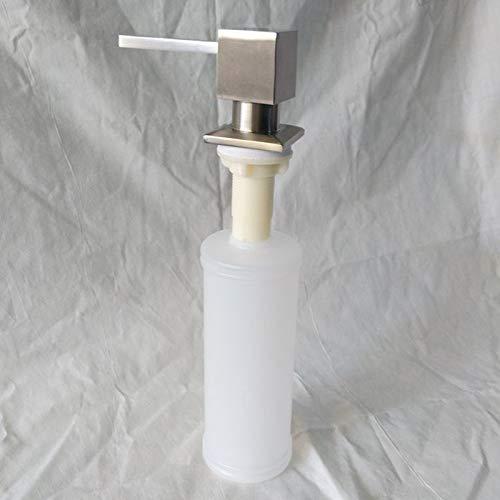 Brushed Nickel Metal Stainless Steel Kitchen Sink Bottle Liquid Soap Dispenser Built In Hand Soap Dispenser Pump