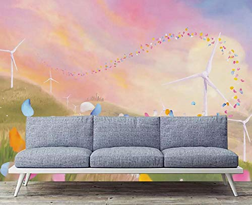 Wallpaper 3D Hand-Painted Simple Petal Windmill Modern Living Room Bedroom Large Mural Wall Decoration