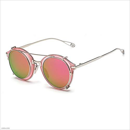 Amovibles pêche Conduite Beach Rose de Rose Style pour Punk Couleur de Lunettes Sensexiao Soleil Party de protectrices UV Vacances Femmes wxq0g8P