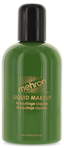 Mehron Makeup Liquid Face and Body Paint (4.5 oz) (GREEN) by Mehron