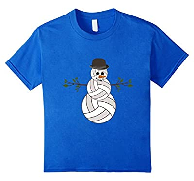 Funny Christmas Volleyball Snowman T-Shirt