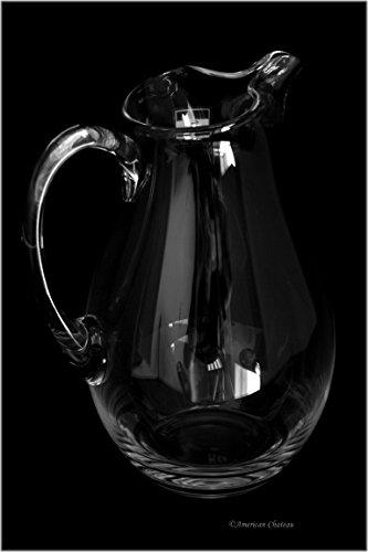 Large 64 oz Handmade Lead-Free Crystal Water Wine Jug Sangria Pitcher Large Lead Crystal