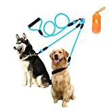 Double Dog Leash - Dual Dog Leash, Durable Double Dog Rope Leash, 5.9FT Tangle Free Dog Walking & Training Leash Nylon Leash for Small Medium Dogs(10-60 lb), Blue