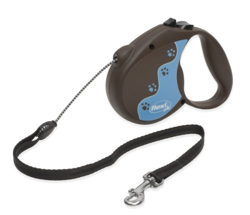 Flexi 16-Feet Retractable Lead with Lupine Pattern Muddy Paws for Pets Up to 44-Pound, My Pet Supplies