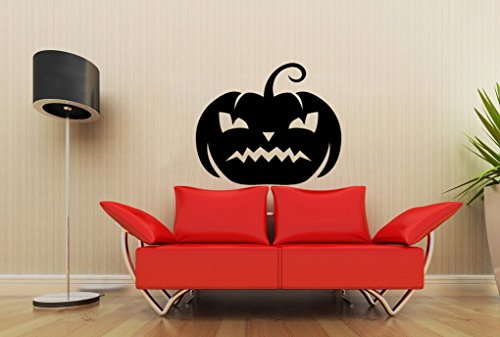 [Poieloi Pumpkin Halloween Housewares Wall Vinyl Decal Sticker Design Modern Art Interior Bedroom] (Street Sign Halloween Costumes)
