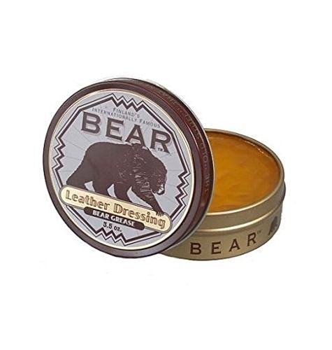 Bear Grease Leather Boots/Shoes/Jackets Dressing Waterproof Conditioner 3.5 oz ()