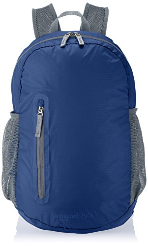 Amazon Basics Ultralight Portable Packable Day Pack 5 Ultra-light packable daypack with 2-way zipper for secure closure Roomy main compartment, 1 front zipper pocket, internal zippered pocket, and 2 mesh side pockets Adjustable breathable straps ensure a proper fit and comfortable all-day use
