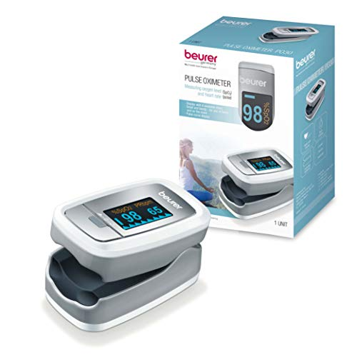 (Beurer Instant Digital Fingertip Pulse Oximeter, Blood Oxygen Saturation & Pulse Rate Monitor with Accessories,)