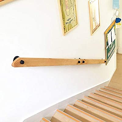 Simple de madera maciza de escalera Baranda, cubierta apoyarse en la pared Barandilla bar, guardería de ancianos Villa Ronda Corredor de madera Barandilla (Size : 120cm): Amazon.es: Bricolaje y herramientas