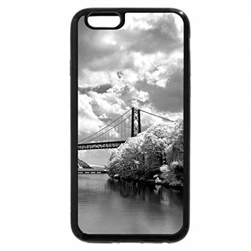 iPhone 6S Plus Case, iPhone 6 Plus Case (Black & White) - WINTER RIVER BRIDGE