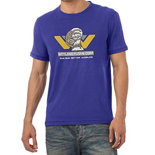 TEXLAB - Weyland Yutani Facehugger - Herren T-Shirt, Größe S, marine