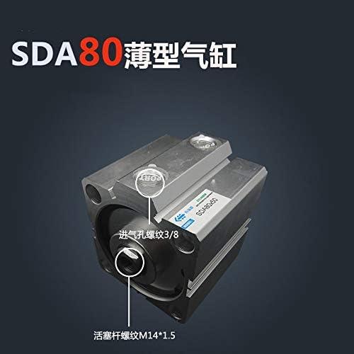JIAIIO SDA8080 80mm Bore 80mm Stroke Compact Air Cylinders SDA80X80 Dual Action Air Pneumatic Cylinder