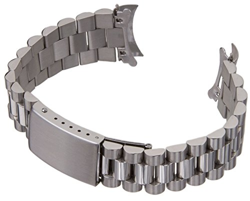 18mm Solid Stainless Steel President 70's Oyster Style Watch Band 0256 -