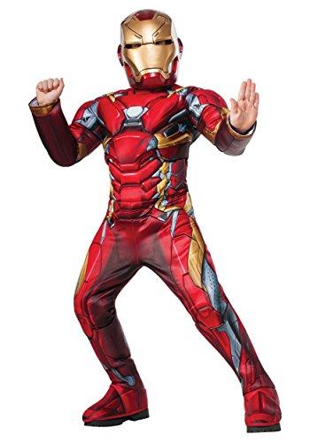 Iron Man Armor Costumes (Rubies Costume Co. Inc boys Boys Elite Civil War Iron Man Costume Medium (8-10))