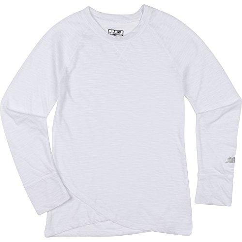 New Balance Big Girls' Thats A Wrap Long Sleeve Shirts, White, (That Balance)