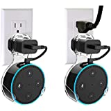 TBFER Wall Mount Stand Hanger Holder for Echo Dot 2nd Generation, A Space-Saving Solution Wall Mount for Alex, Without Messy Wires Or Screws, Ideal for Your Smart Home Speakers (Transparent, 2-Pack)