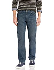 Wrangler Authentics Men's Classic Straight Leg Jean. This denim straight cut jean is constructed with durable 100% cotton OR Premium Flex denim built for long-lasting wear and all-day comfort. Designed with a straight cut fit through the leg,...