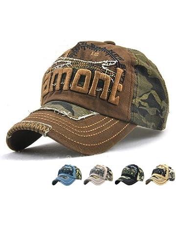 3f3518a0413 LAOWWO Casual Camo Baseball Cap Cool Cotton Adjustable Military Summer  Outdoor Cap Hat Men Women Sport