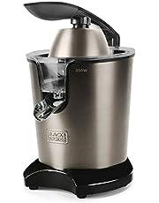 Black+Decker BXCJ350E - 350 W elektrische citruspers met hendel. Professionele AC-motor. Roestvrijstalen filter. Extra filter voor de pulp 2 kegels van verschillende afmetingen. Reservoir van 650 ml.