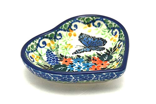 Cheapest Price! Polish Pottery Tea Bag Holder - Heart - Unikat Signature - U4600