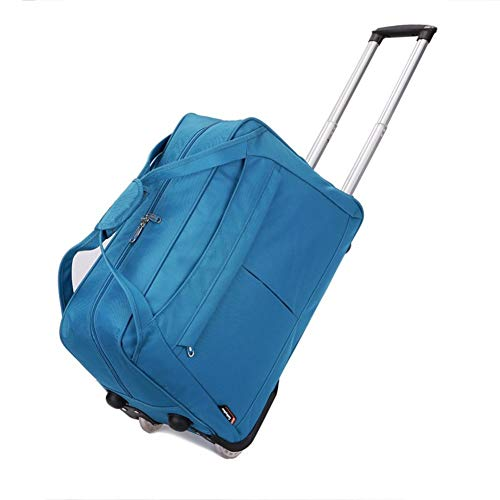 Travel Bags Business Trip Short Term Portable Waterproof fold Trolley Case Luggage Suitcases Carry On Hand Luggage Durable Hold Tingting Color : Red, Size : L