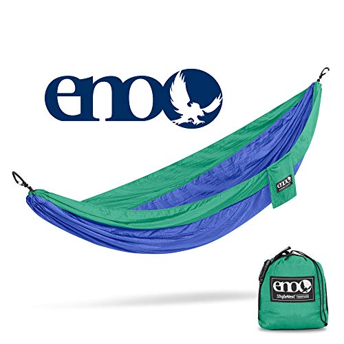 ENO – Eagles Nest Outfitters SingleNest Hammock, Portable Hammock for One, Royal Emerald