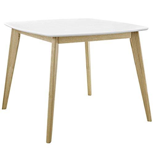 Modway EEI-2669-WHI Stratum Mid-Century Modern Dining Table, 40