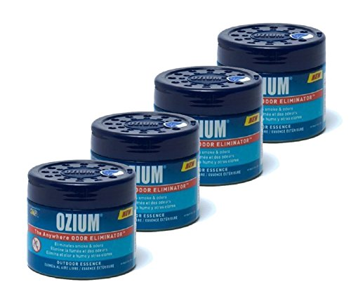 Ozium Smoke & Odors Eliminator Gel. Home, Office and Car Air Freshener 4.5oz (127g), Outdoor Essence Scent (4 pack) by Ozium