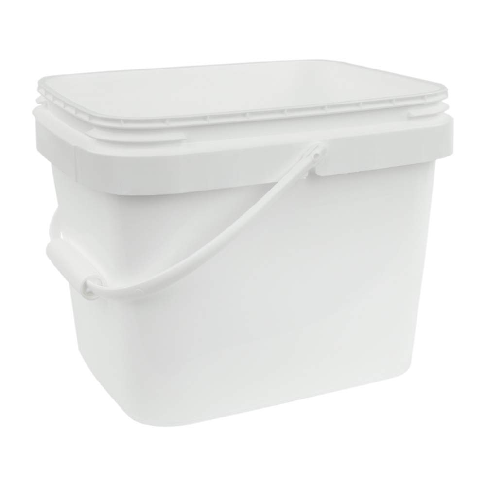 3 Gallon White EZ Stor Pail with Handle (Lids Sold Seperately)