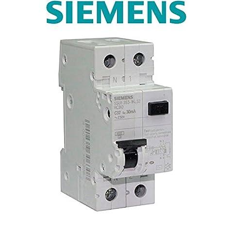 siemens - disjoncteur différentiel électrique 30 ma 32 a type ac ... - Disjoncteur Differentiel Pour Salle De Bain