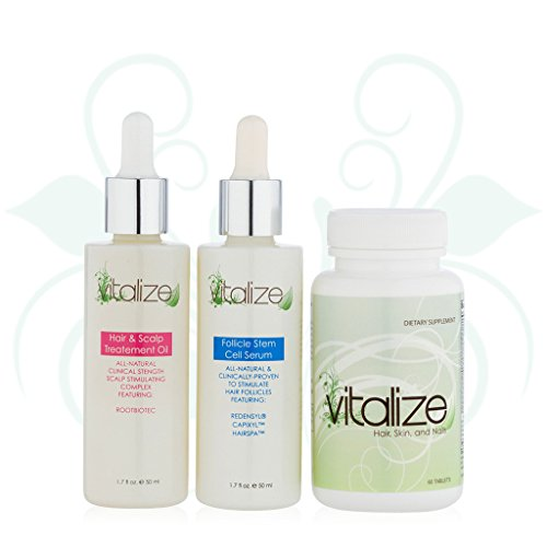 Vitalize Hair 3-Step Hair Repair System ( with Award-winning active Redensyl)